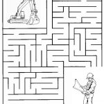Construction Maze | Summer Camp Construction | Mazes For Kids   Printable Puzzle Mazes