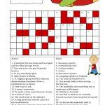 Crossword (Intermediate) Worksheet   Free Esl Printable Worksheets   Printable Crossword Puzzles Intermediate
