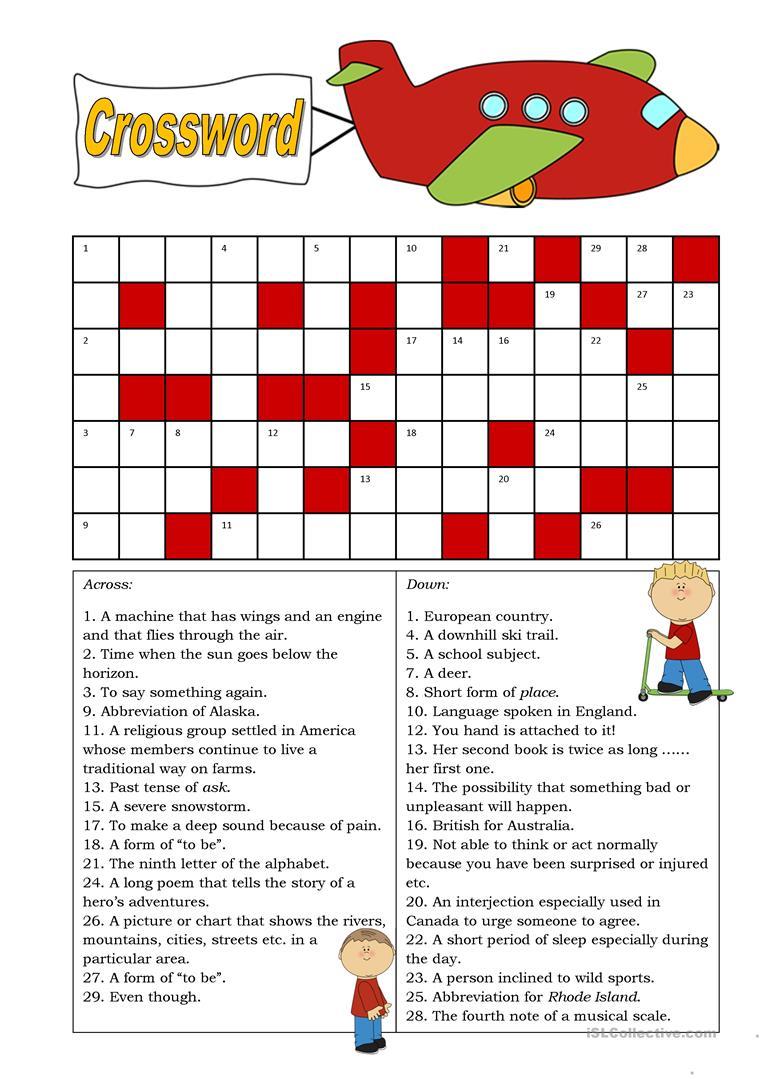 Crossword (Intermediate) Worksheet - Free Esl Printable Worksheets - Printable Crossword Puzzles Intermediate