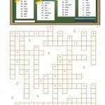 Crossword Opposites Worksheet   Free Esl Printable Worksheets Made   Printable Opposite Crossword Puzzle