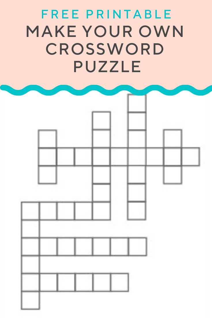 Crossword Puzzle Generator | Create And Print Fully Customizable - Printable Puzzle Generator