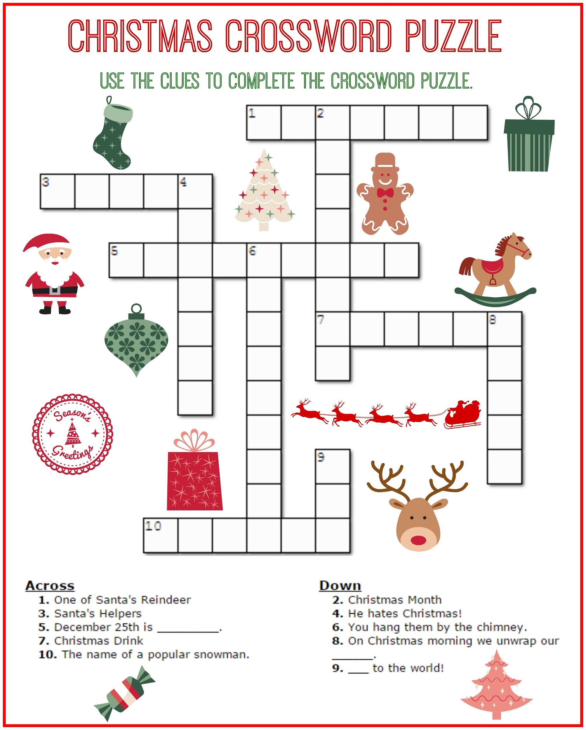 Crossword Puzzle Kids Printable 2017   Kiddo Shelter - Free Easy - Printable Crossword Puzzles For 5 Year Olds