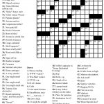 Crossword Puzzle Maker And Printable Crosswords Onlyagame – Free – Printable Crossword With Answers