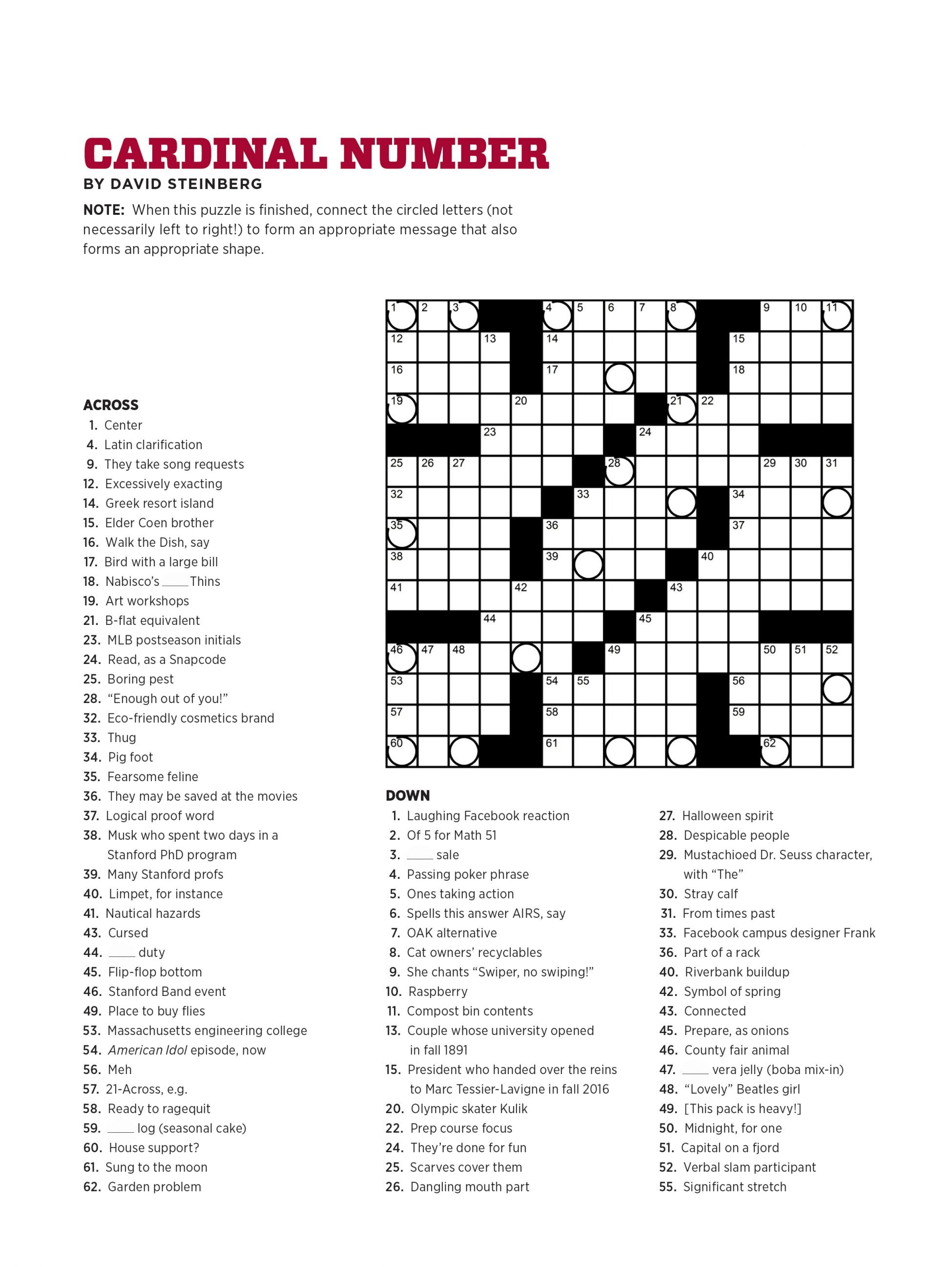 Crossword Puzzle Maker For Free Printable Crosswords Usa Today - Printable Crossword Usa Today