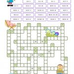 Crossword Puzzle Numbers Worksheet   Free Esl Printable Worksheets   Printable Crossword Puzzle For Primary School