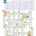 Crossword Puzzle Numbers Worksheet   Free Esl Printable Worksheets   Printable Word Puzzles For 7 Year Olds
