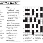 Crossword Puzzle Printable Large Print Crosswords ~ Themarketonholly   Crossword Puzzle Word Search Printable