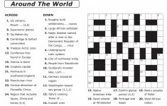 Crossword Puzzle Printable Large Print Crosswords ~ Themarketonholly – Printable Puzzles Adults