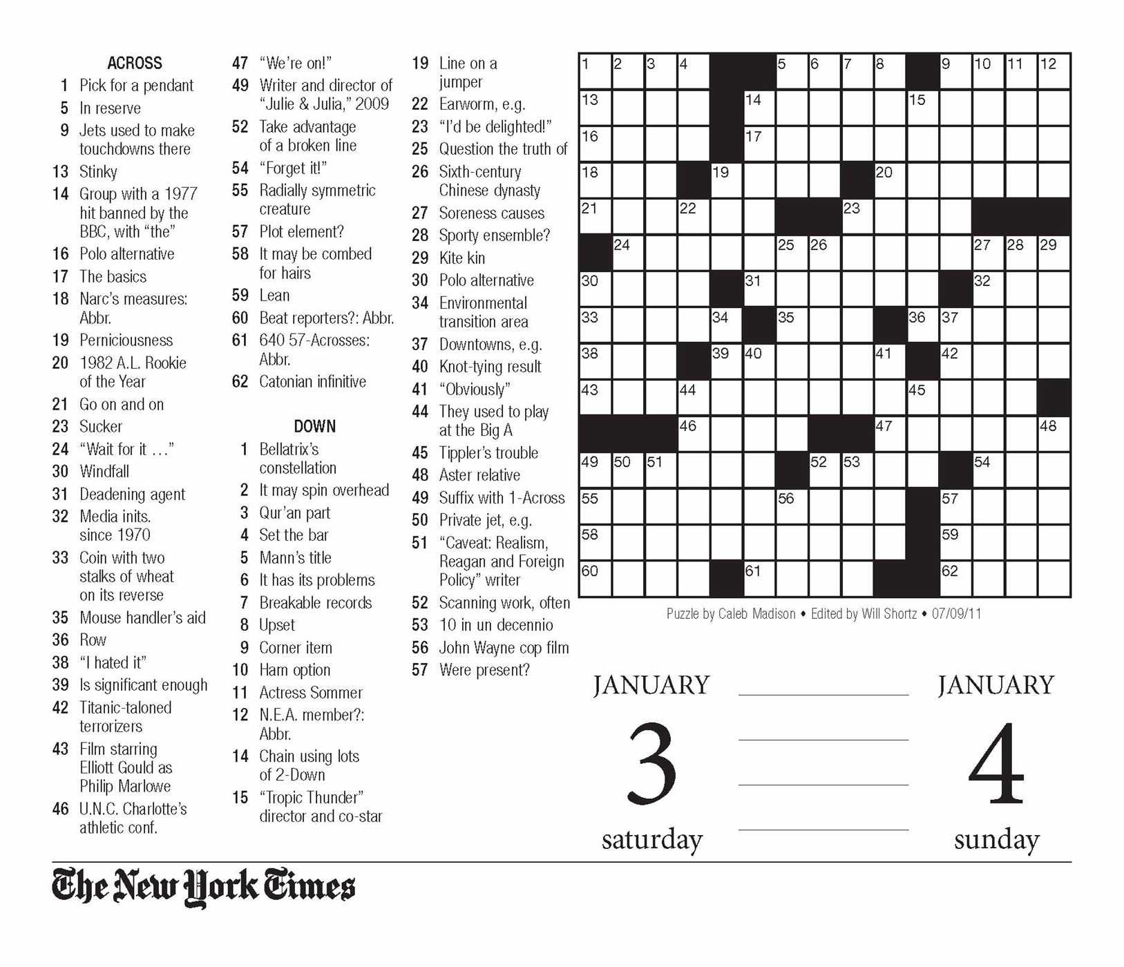 Crossword Puzzle Printable Ny Times Crosswords ~ Themarketonholly - Free Printable Ny Times Crossword Puzzles