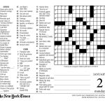 Crossword Puzzle Printable Ny Times Syndicated Answers   New York   Printable Crossword Nyt