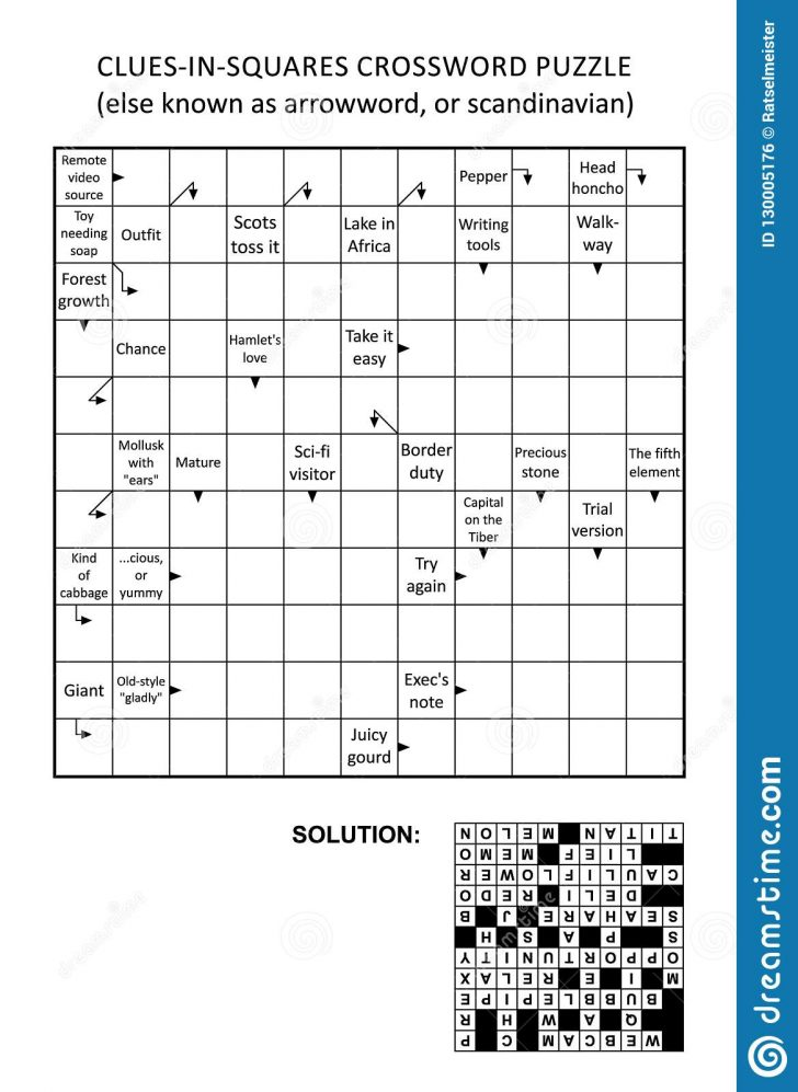 Printable Arrow Crossword Puzzles For Free