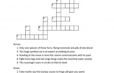 Crossword Puzzles For 5Th Graders | Activity Shelter – Printable Crossword Puzzles For 8Th Graders