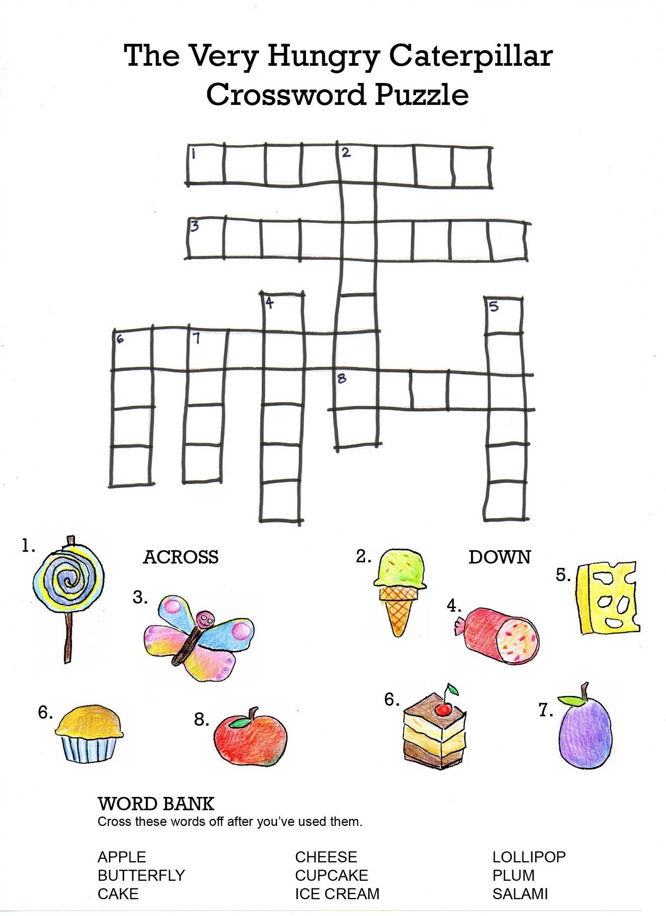 Crossword Puzzles For Kids - Best Coloring Pages For Kids - Printable Educational Crossword Puzzles
