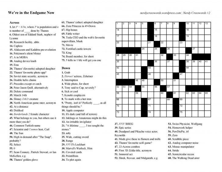 Zelda Crossword Puzzle Printable