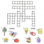 Crossword To Practice. Food | Storybook Activities | Hungry   Printable Crossword Puzzles For Kids With Word Bank
