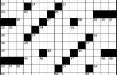 Crossword – Wikipedia – Printable Blank Crossword Puzzles