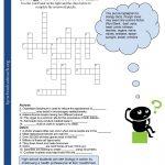 Crosswords Crossword Puzzle Worksheets For Middle School Biology Fun – Printable Worksheets Crossword Puzzles