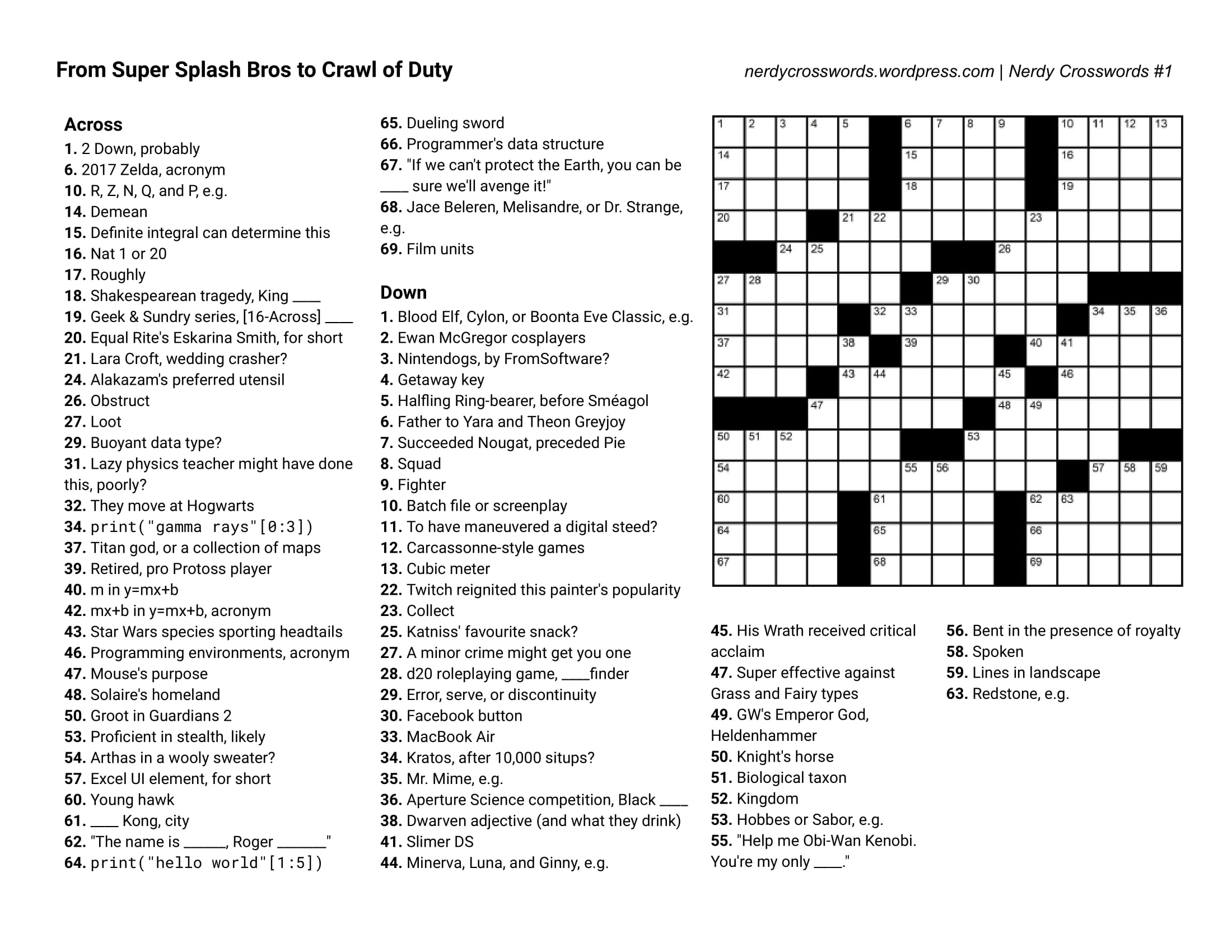 Crosswords Crossword Puzzles Printable Free Usa Today - Printable Crossword Puzzle For Today
