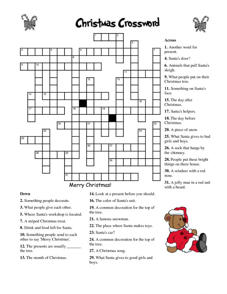 English Language Crossword Puzzles Printable