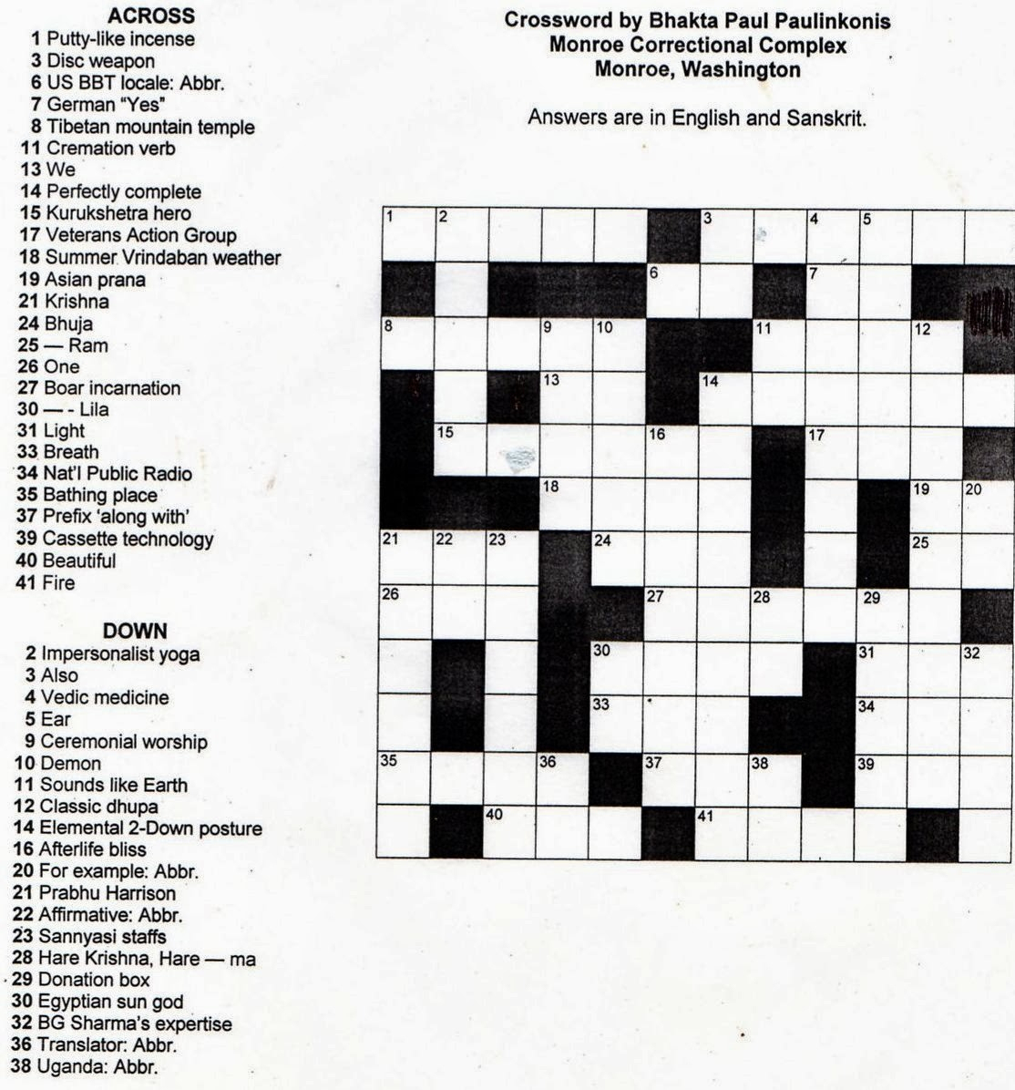 Crosswords Printable Crossword Puzzles For Middle School Puzzle - Printable Crossword Puzzles High School