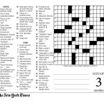 Crosswords Sunday Crossword Puzzle Printable ~ Themarketonholly   New York Times Free Crossword Puzzles Printable