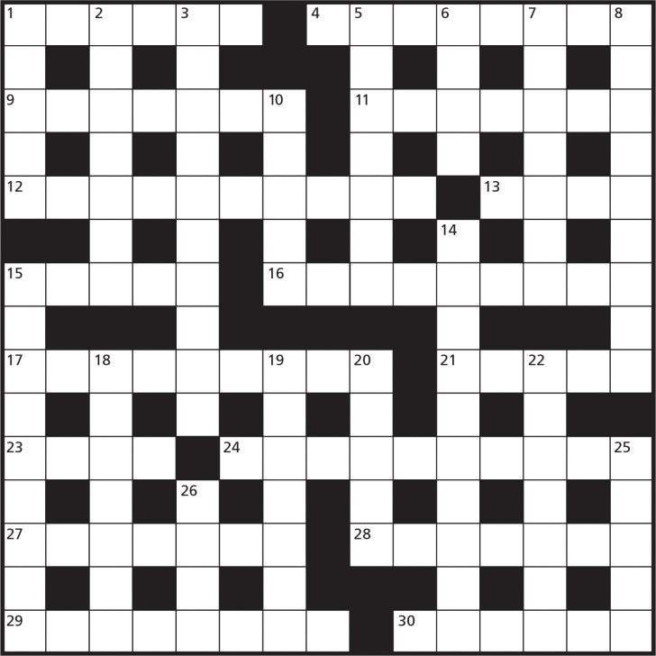 Printable Reverse Crossword Puzzle