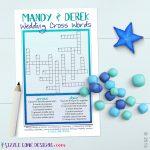 Custom Wedding Crossword Puzzle Game Printable #219 | Member Board   Free Printable Wedding Crossword Puzzle