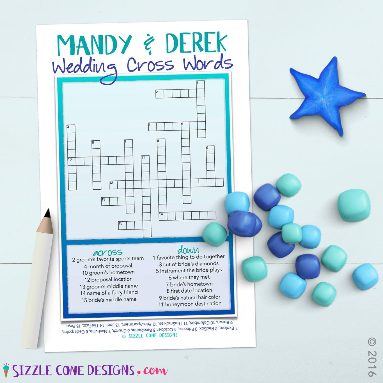 Custom Wedding Crossword Puzzle Game Printable #219 | Member Board - Printable Wedding Crossword Puzzle