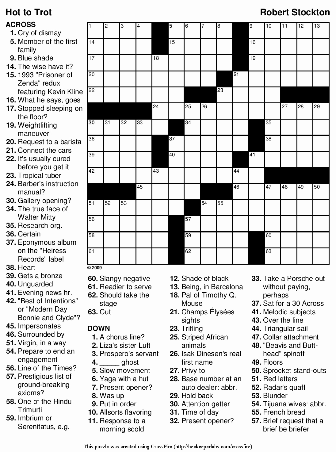 Daily Crossword Puzzle Printable – Rtrs.online - Difficult Crossword Puzzles Printable