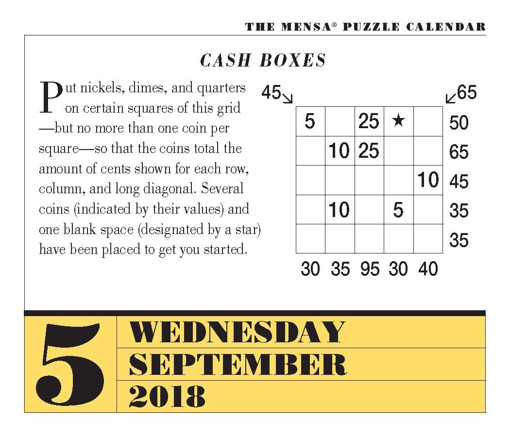 Daily Riddle Calendar | Daily Calendar Printable 2019 - Printable Mensa Puzzles