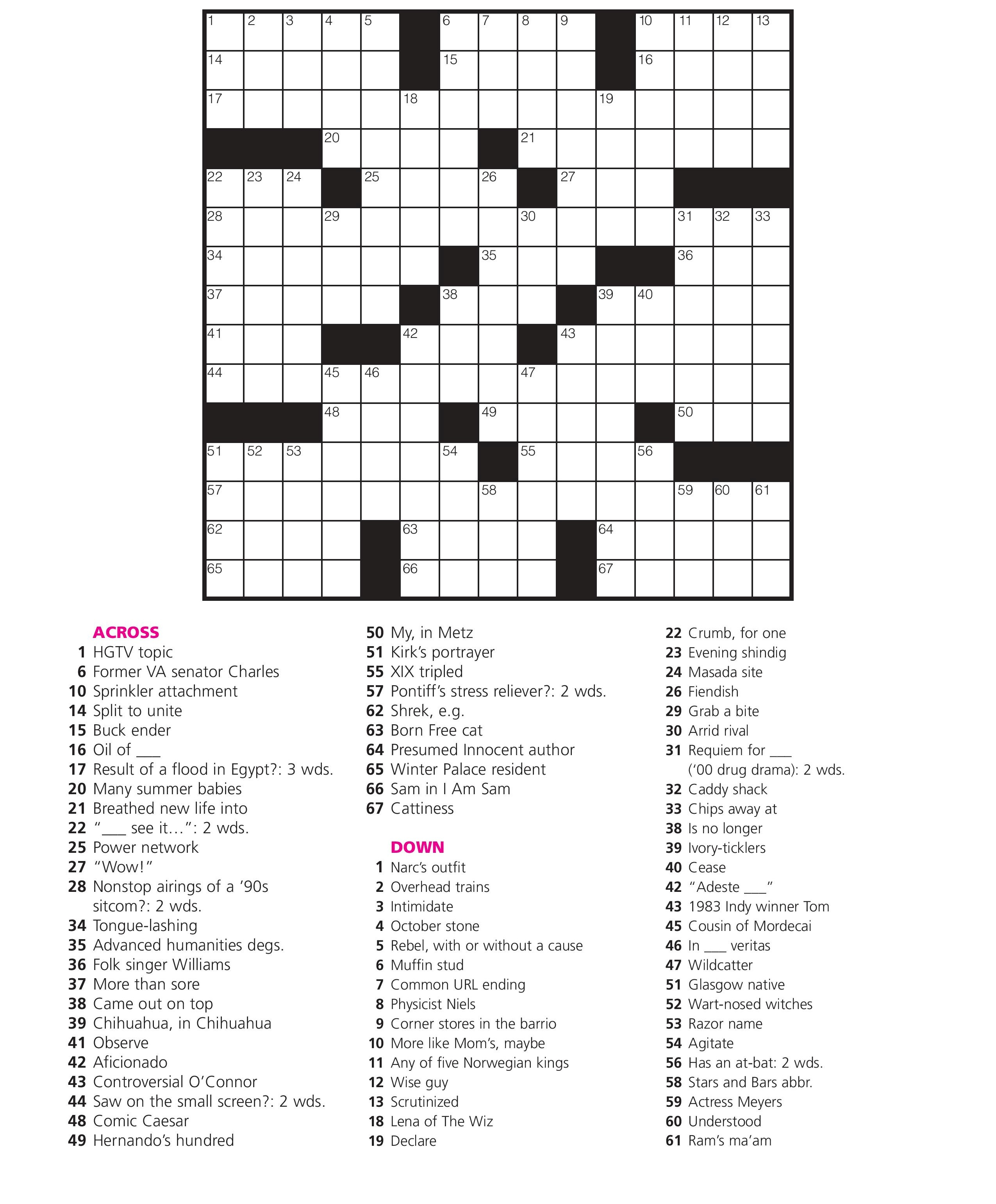December 21: Crossword Puzzle Day – Games World Of Puzzles - Printable Crossword Puzzle Nov 2018