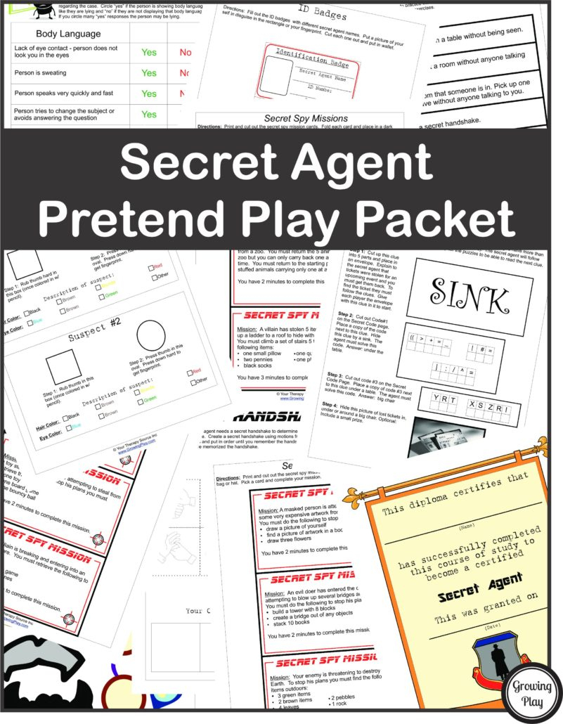 Detective Puzzle For Kids - Free Printable - Growing Play - Printable Puzzle Packets