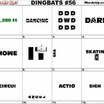 Dingbat & Whatzit Rebus Puzzles #dingbats #whatzits #rebus #puzzle   Printable Dingbat Puzzles With Answers