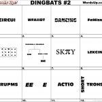 Dingbat & Whatzit Rebus Puzzles #dingbats #whatzits #rebus #puzzle   Printable Rebus Puzzle Worksheets