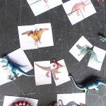 Dinosaur Matching Puzzle (Free Printable)   Printable Dinosaur Puzzle