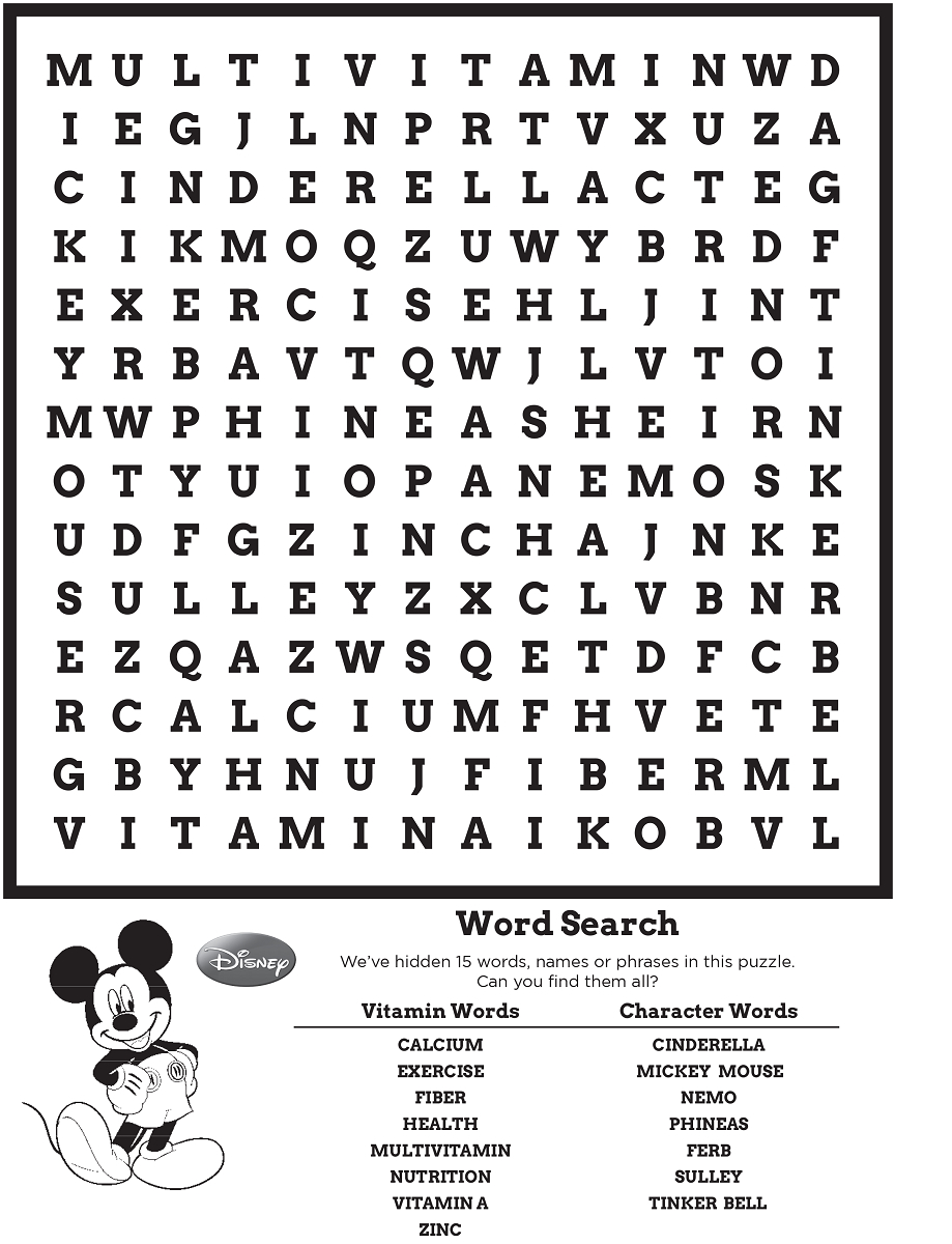 Disney Word Search Puzzle | Kiddo Shelter - Printable Disney Puzzles