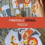 Diy Kids Animal Puzzle Printable   Children Reception Activity   Fun   Printable Animal Puzzle