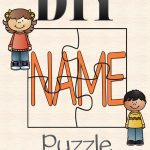 Diy Name Puzzle Template   Preschool   Name Puzzle, Preschool   Printable Name Puzzle