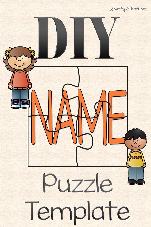 Diy Name Puzzle Template   Preschool   Name Puzzle, Preschool - Printable Name Puzzle