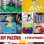 Diy Puzzles And Free Printables   Montessori Nature   Unique Printable Puzzles