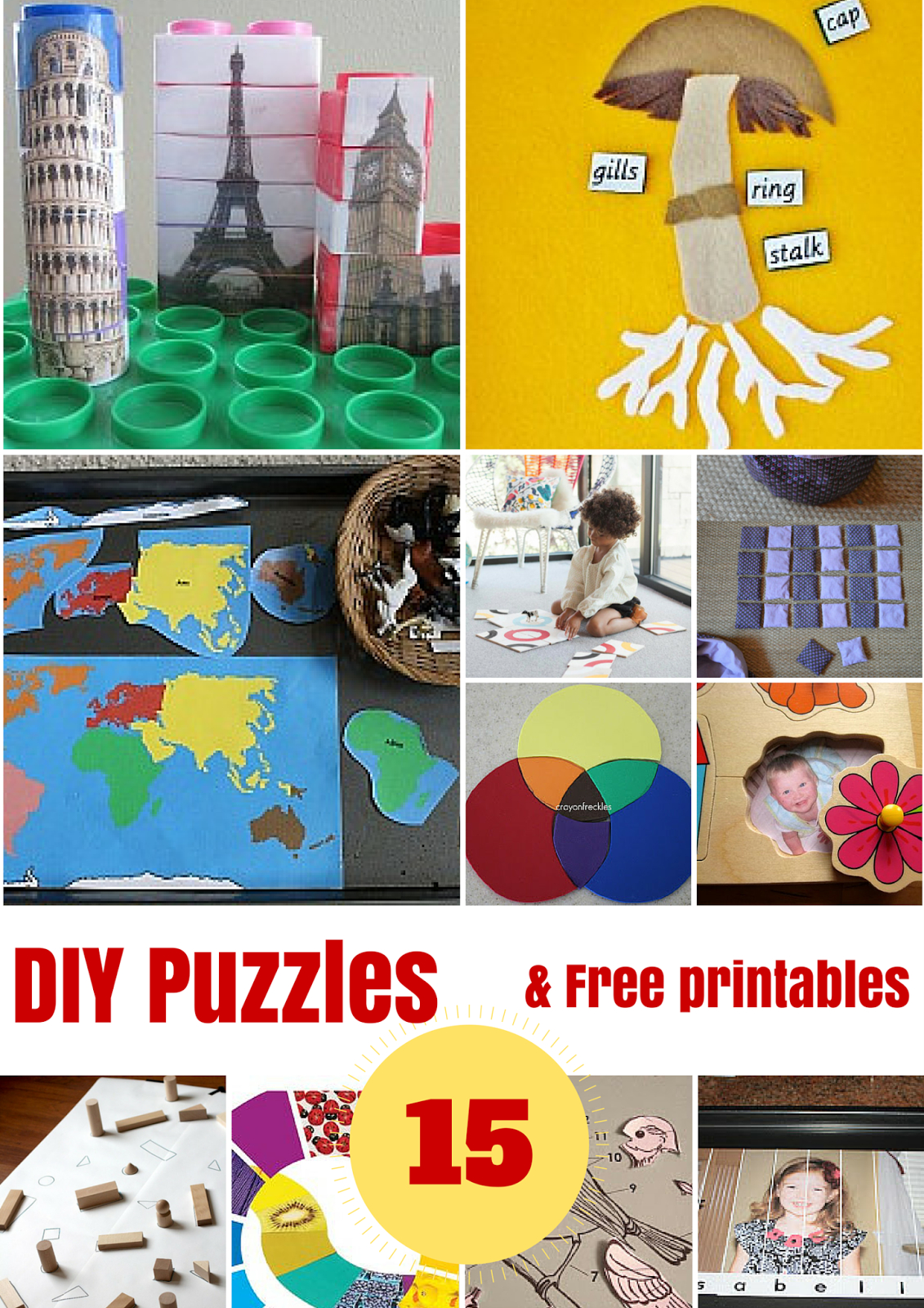 Diy Puzzles And Free Printables - Montessori Nature - Unique Printable Puzzles