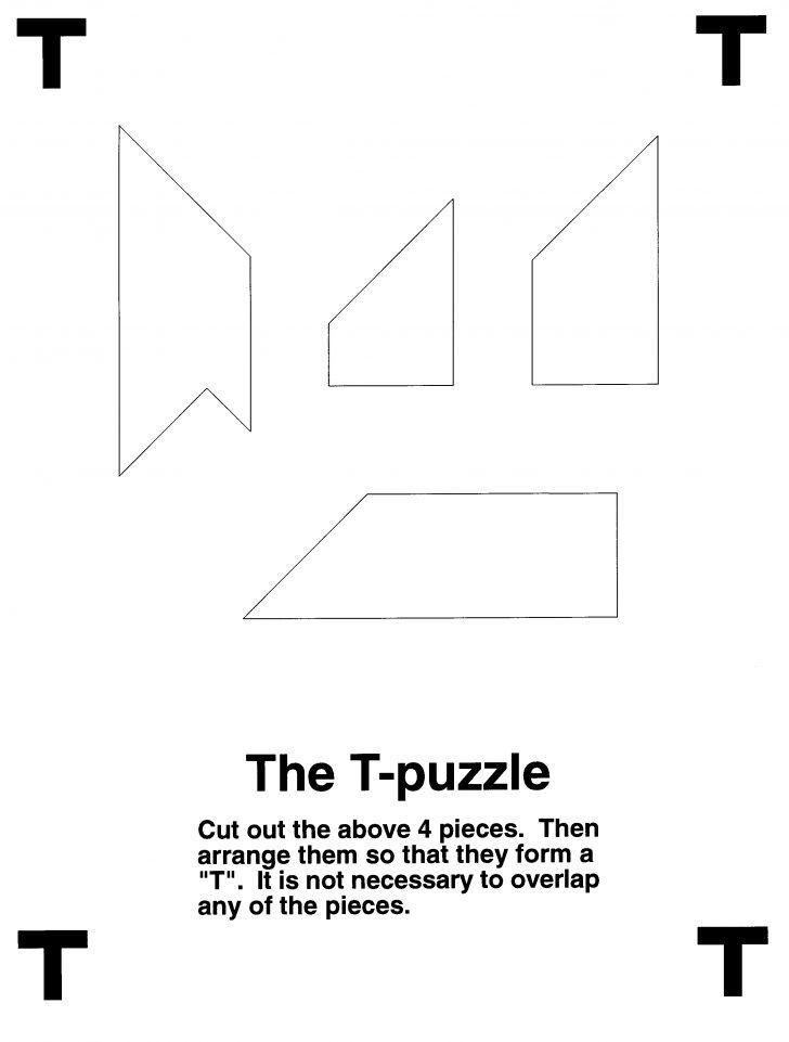 T Puzzle Printable