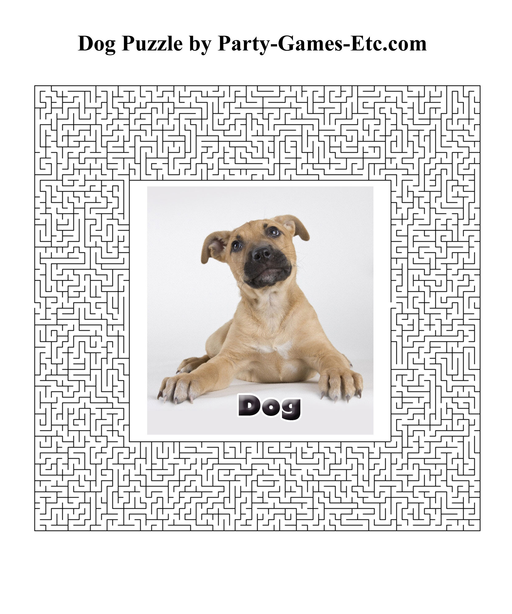 Dog Party Games, Free Printable Games And Activities For A Theme - Printable Dog Puzzle