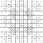 Double Harakiri Sudoku X   Printable Sudoku X Puzzles