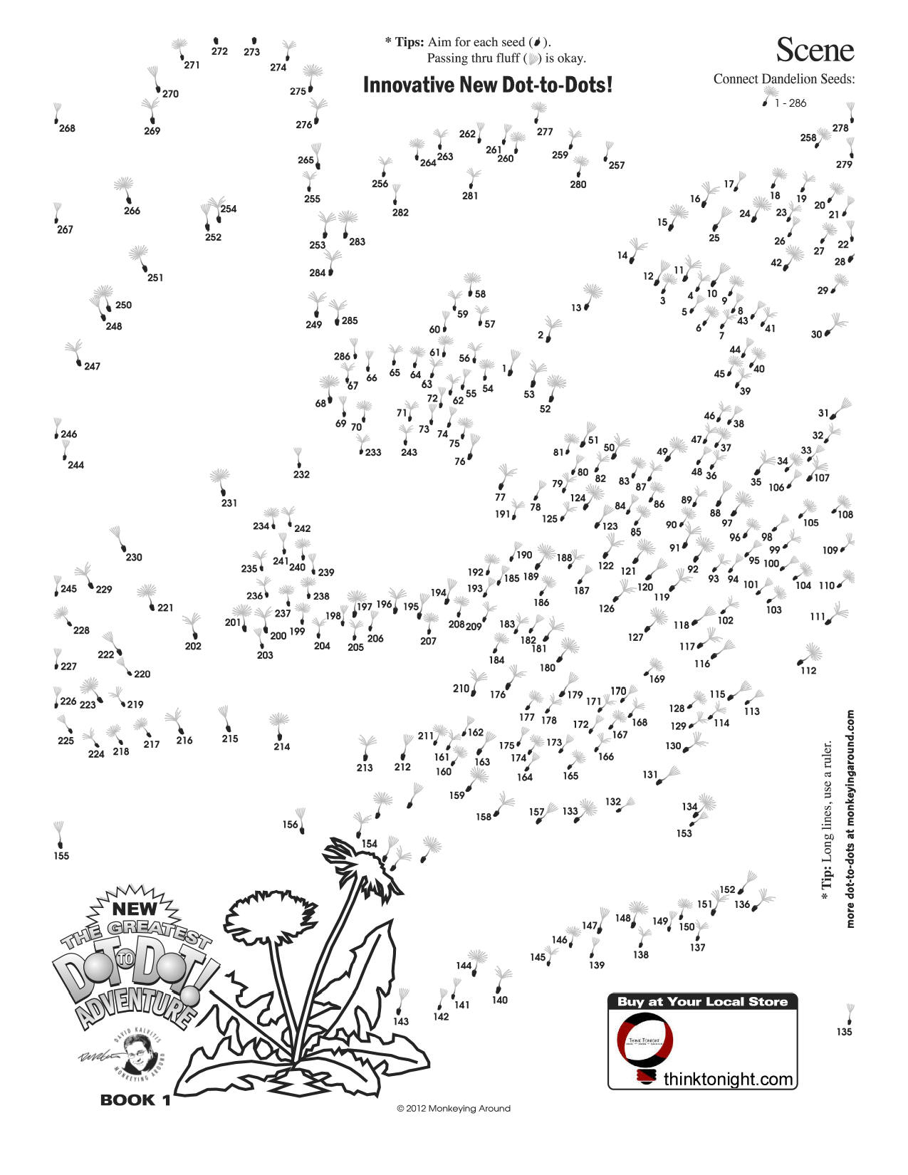 Downloadable Dot-To-Dot Puzzles - Printable Puzzle Booklet