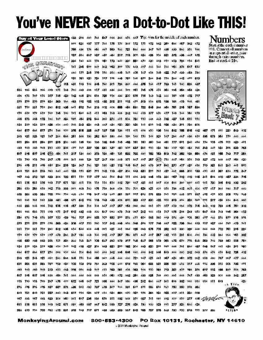 Downloadable Dot-To-Dot Puzzles - Printable Puzzles Difficult