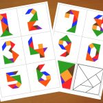 Downloadable Tangram Cards   Tangram Numbers   Tangram Puzzles   7 Piece Tangram Puzzle Printable