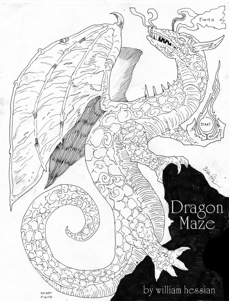Printable Dragon Puzzle