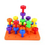 Dropshipping For 30Pcs Pegboard Jigsaw Building Block Puzzle   Printable Jigsaw Puzzle For Toddlers