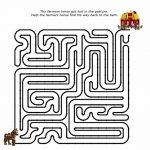 Duplo Farm Puzzle Maze. Free Printable | Lego Fun Stuff | Maze   Printable Puzzle Mazes